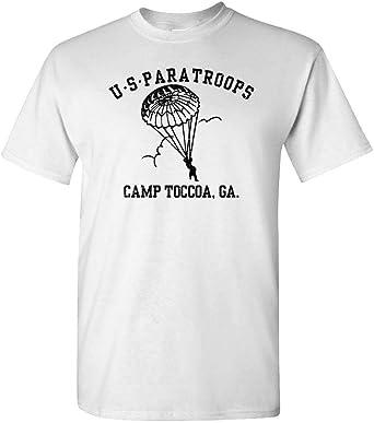 The Goozler US PARATROOPS Camp Toccoa WWII WW2 Army - Camiseta de algodón para Hombre