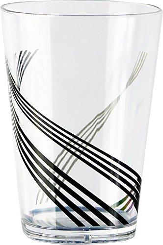 Corelle Coordinates by Reston Lloyd Urban Arc Acrylic Square Juice Glasses, 8-Ounce, Set of 6