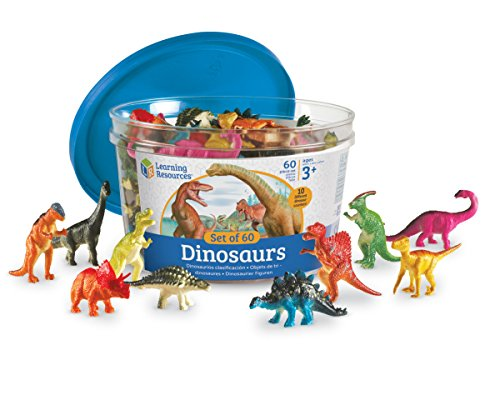 (Learning Resources Dinosaur Counters, Set of 60 Colored Dinosaurs, Ages 3+)