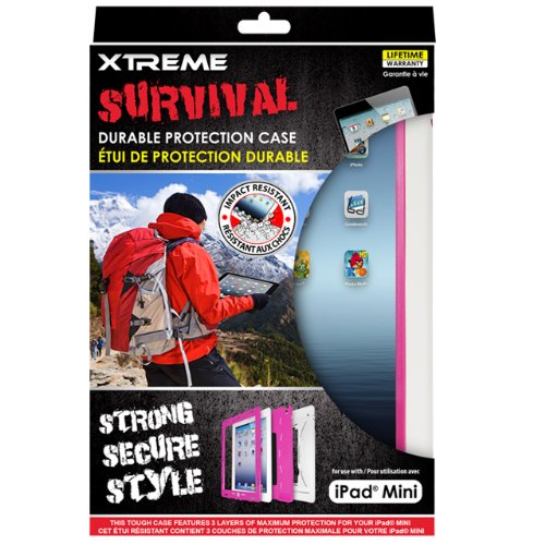 Xtreme Survival Durable Protection Case for iPad mini - Retail Packaging - Pink