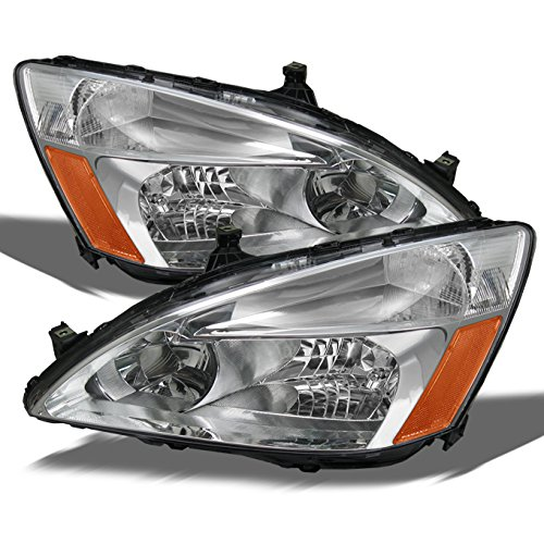 For 2003-2007 Honda Accord Coupe/Sedan Model OE Replacement Headlights Driver/Passenger Head (Replacement Headlight Driver)