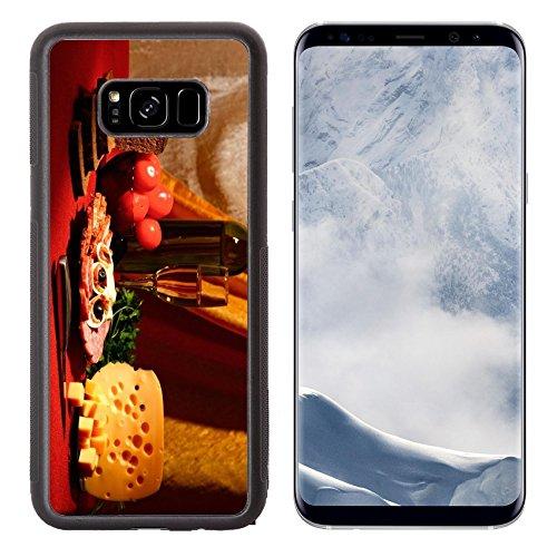 Liili Premium Samsung Galaxy S8 Plus Aluminum Backplate Bumper Snap Case IMAGE ID: 15688455 edible still life variety of food on (Edible Ham)