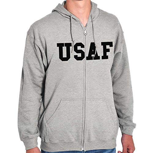 - Military USAF United States Air Force Hero Zip Hoodie