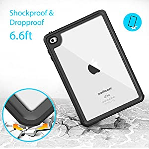 iPad Mini 4 Waterproof Case, Meritcase IP 68 Waterproof Full Body Snowproof Dustproof Shockproof Case with Touch ID for iPad Mini 4 (7.9 inch)Only-- (Blue)