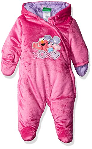 (Sesame Street Baby Girls' Heavyweight Velboa Pram, Berry, 24 Months)