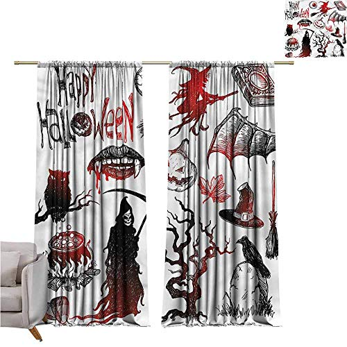 zojihouse Halloween Bedroom and Living Room Curtains
