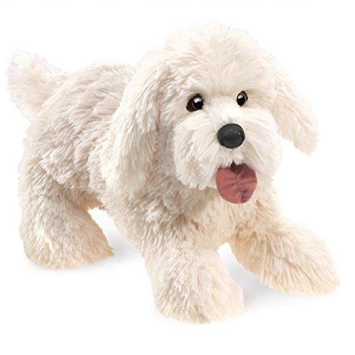 Folkmanis Panting Dog Hand Puppet Plush ()