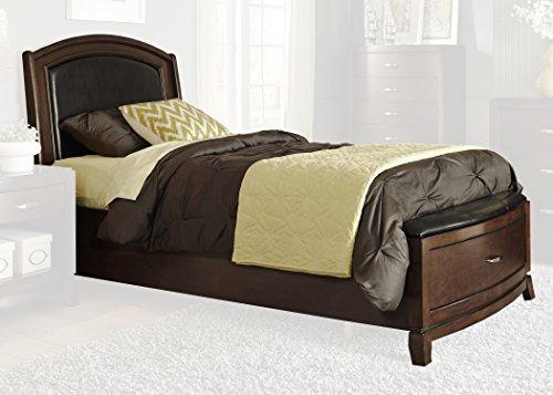 "Liberty Furniture 505-YBR-TLS Avalon Twin Leather Storage Bed, 43"" x 90"" x 50"", Dark Truffle"