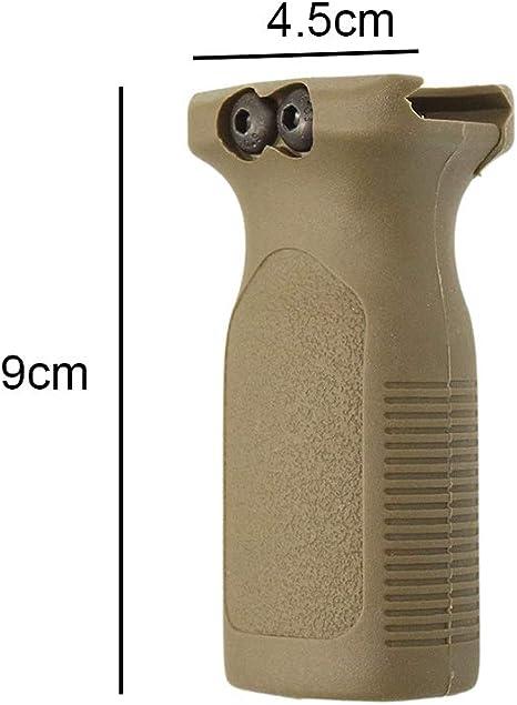 Poign/ée Avant Airsoft Tactiques Universel Verticale en Nylon Accessoires de Poign/ée pour Rails de 20mm CJ//WB-03