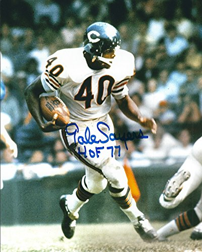 Autographed Gale Sayers 8x10 Chicago Bears (Gale Sayers Autographed Bears)