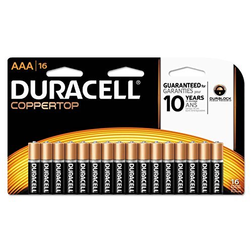 Price comparison product image Duracell Coppertop AAA Alkaline Batteries, 16 Count