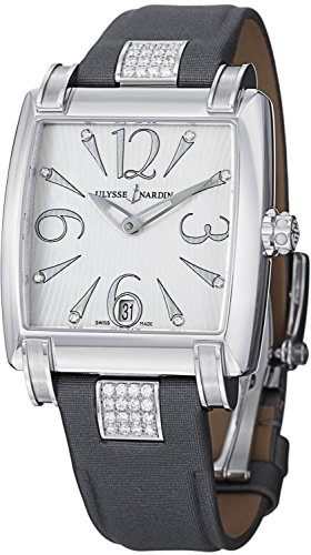 Ulysse Nardin Caprice Ladies Stainless Steel Grey Leather Strap Diamond Automatic Watch 133-91-H/691