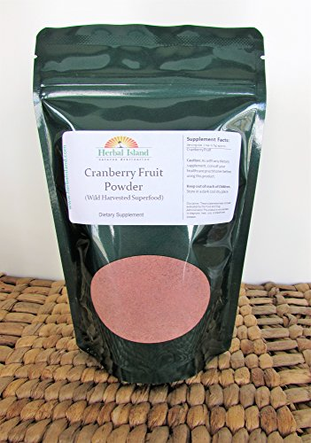 Wild Cranberry (Cranberry Fruit Powder - 4 oz Bag - (Superfood) Wild Harvested with Free Shipping)