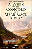 Front cover for the book A Week on the Concord and Merrimack Rivers by Henry David Thoreau