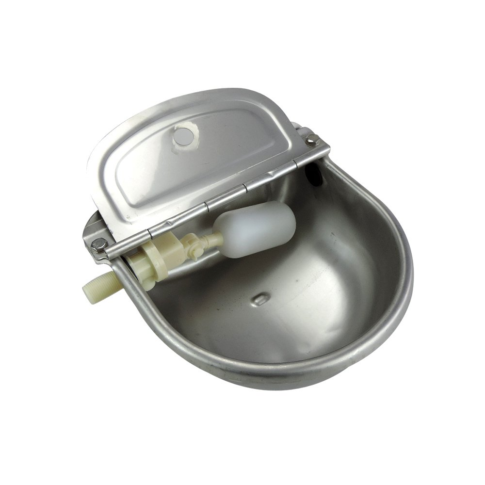 Stainless Steel Automatic Waterer Bowl Horse Cattle Goat Sheep Pig Dog Float Valve Water Trough Farm Supplies Livestocktool