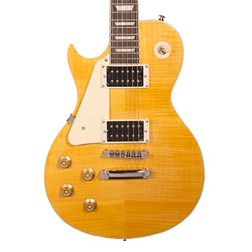 Sawtooth ST-H58S-LH-TCNFL Heritage Series Left-Handed Maple Top Electric Guitar, Tuscan Flame