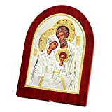 Holy Family Wall and Table Decoration Wood Orthodox Greek Church Catholic Religious Icon