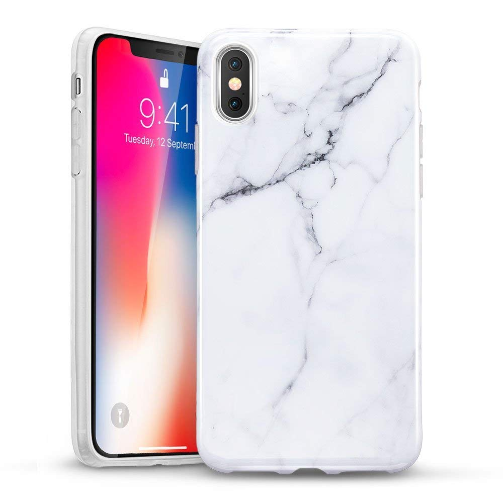 huge discount d2e76 95eb8 ESR Marble Case for iPhone XS Case/iPhone X Case, Slim Soft Case Flexible  TPU Protective Cover [Scratch Resistant] [Good Grip] for 5.8
