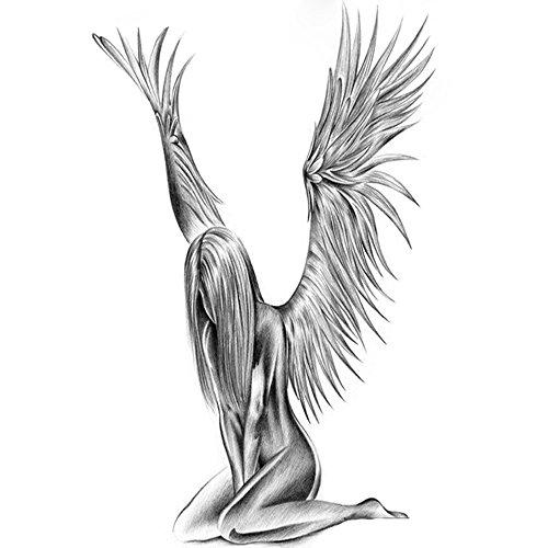 Q&Q Fashion Fallen Angel Wings Raver Arm Leg Body Art Waterproof Temporary Tattoo Sticker