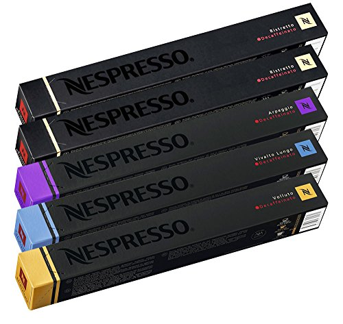 Nespresso OriginalLine: Decaffeinated Mixed Variety - 50 Count by Nestle Nespresso