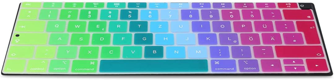 from end of 2018 German QWERTZ Layout Keyboard Cover Silicone Skin kwmobile Keyboard Cover Compatible with Apple MacBook Air 13 Retina