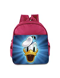 Donald Duck Face Toddler School Backpack