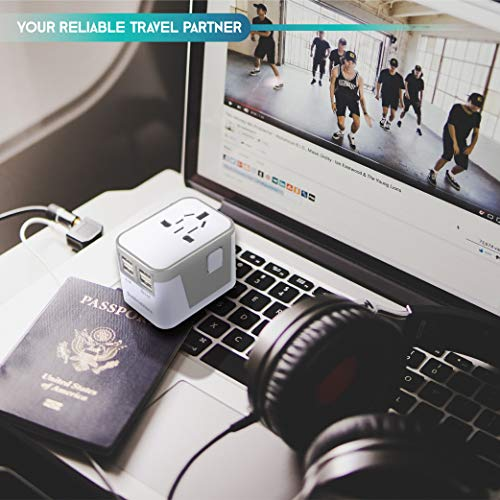 Power Plug Adapter - International Travel - (Pack of 2) w/4 USB Ports Work for 150+ Countries - 220 Volt Adapter - Travel Adapter Type C Type A Type G Type I f for UK Japan China EU Europe European by   SublimeWare   (Image #4)