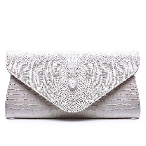 Sac Cuir Main Bandoulière Sac En à silver D'embrayage Motif Sac Mode Soir Chaîne Dames à Crocodile 5qBg7wv