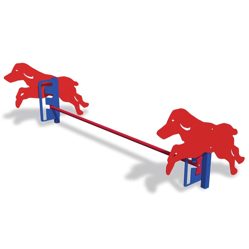 BarkPark Rover Jump Over Dog Training Bar, Red/Blue by BarkPark