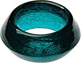 Luna Bazaar Recycled Glass Napkin Ring, (2-Inch, Teal)