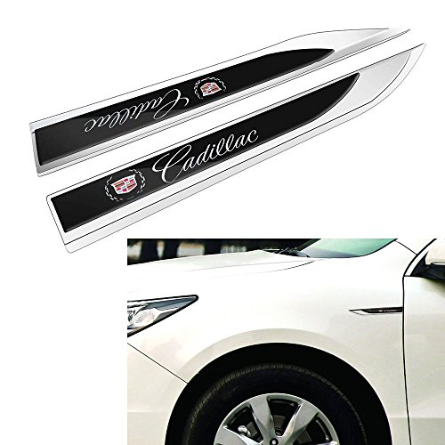 Duoles New 3D Car Logo Car Emblem Chrome Stickers Decals Badge Labeling for Cadillac Escalade ATS SRX XTS CTS Emblem Chrome,Pack of 2