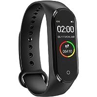 M4 Akıllı Bileklik Kol Bandı Fitness Saat Renkli Ekran Adım Sayar Kalp Ritmi Spor Takip iOS ve Android Telefonlar ile Uyumlu Kolay Kullanım Siyah Renk