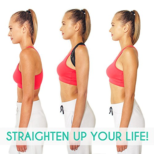 Posture Corrector for Women Men and Kids – Extra Comfortable Adjustable Upper Back Support Brace – Universal Size & Improved Design Back Straightener – Clavicle Support by Netynovis (Image #5)