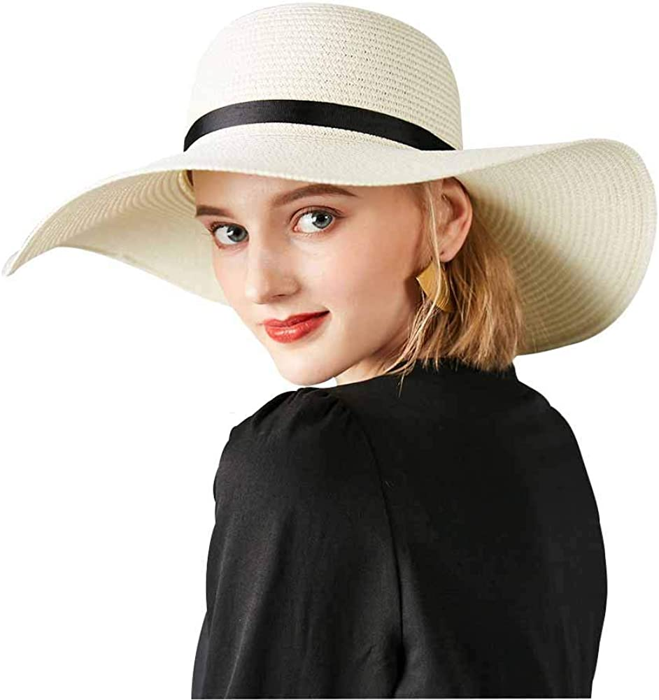 Sombrero Paja Mujer Pamela de Paja Sombreros Mujer Verano Sombrero ala Ancha Mujer Sombrero de Playa Plegable