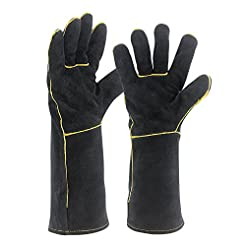 Welding Gloves HEAT RESISTANT Cow Split ...