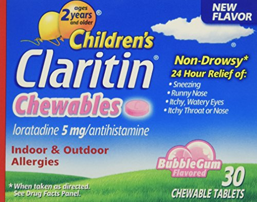 Children's Claritin 24 Hour Non-Drowsy Allergy  Bubblegum Chewable Tablet, 5 mg, 30 Count