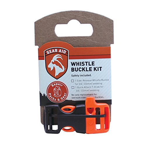 Gear Aid Whistle Sternum Strap Buckle Kit with Quick Attach