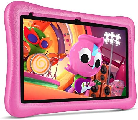 "VANKYO MatrixPad S10 Kids Tablet 10 inch, 2 GB RAM, 32 GB Storage, Quad-Core Processor, Kidoz Pre Installed, 10.1"" IPS HD Display, Android OS, WiFi Tablet, Dual Camera, GPS, FM, Pink Kid-Proof Case"