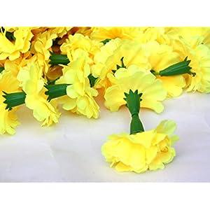 Nexxa 5 Feet Long Strands Marigold Garlands, Wedding,Flower Garland Set of 5