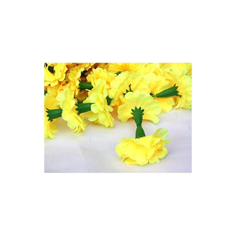 silk flower arrangements nexxa 5 feet long strands marigold garlands, wedding,flower garland set of 5