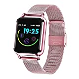 Smart Wristwatch for Women, YiMiky Sport Wristband Step Calories Fitness Watch Blood Pressure Monitoring Fitness Tracker Smart Reminder Waterproof Sport Watch for iOS Android - Rose Gold