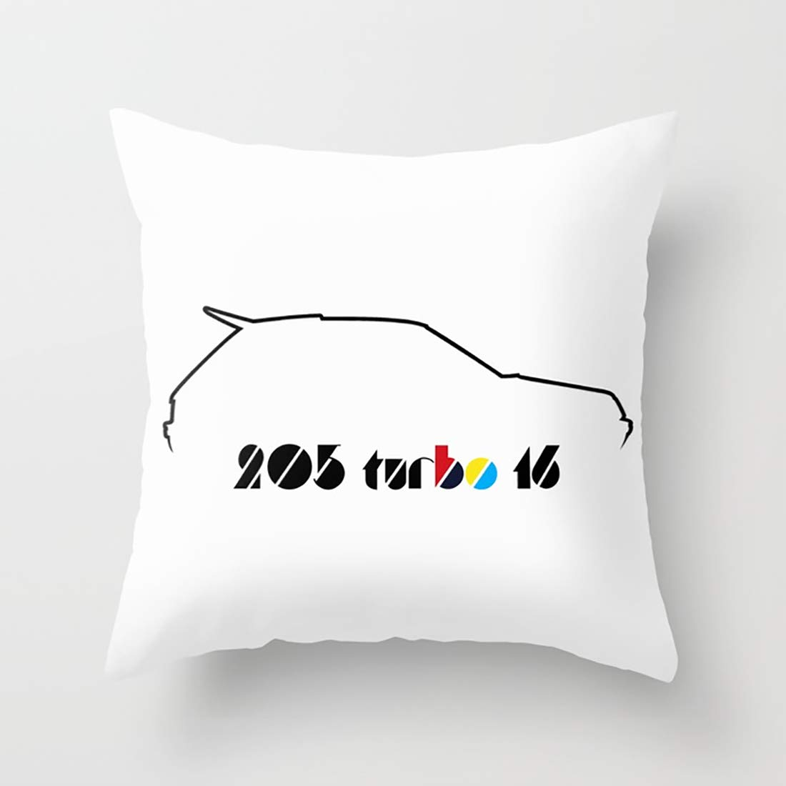 Amazon.com: Aminayo Pillow Cover Rally Legends - Peugeot 205 T16 [Silhouette] Floral Cushion Cover Floral Printed Case 18 X 18 Pillowcase Multicolor: Home & ...