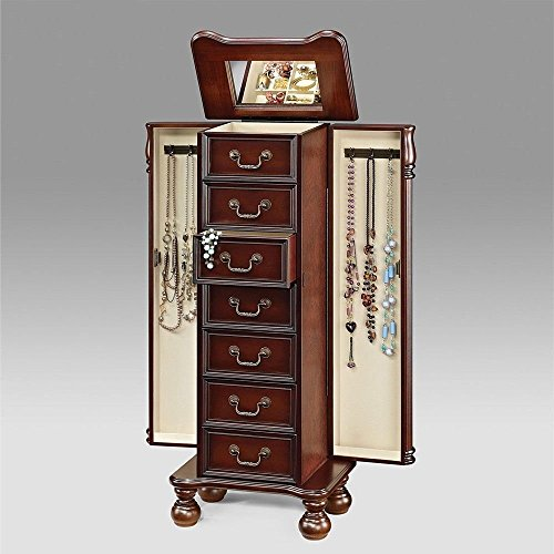 ACME 97006 Lopez Jewelry Armoire, Cherry ()