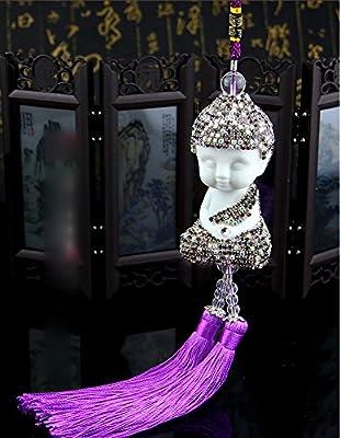 Fashion Car Mirror Pendant Car Interior Decor Buddha Hanging Ornament Car Interior Decoration Car Accessories
