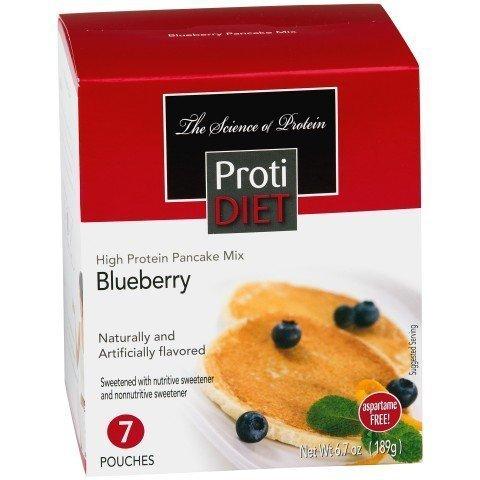 Protidiet Pancakes (ProtiDiet Blueberry Pancakes 6.7oz 7 pouches by Pro Amino)