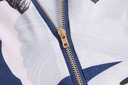 Beauty7 Chalecos Mujer Tirantes Impreso Florales Impresiones Cuello Bajo Camisetas Verano T Shirt Camisas Blusas Tops Tee Parte Superior Ropas Ocasionales Azul