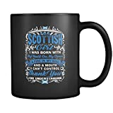 Scottish Mug – Perfect Gift For A Scottish Girl – Favorite 11 oz Black Print Ceramic Coffee Mugs.