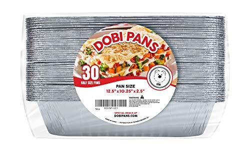 DOBI Aluminum Pans (30-Pack) - Disposable Aluminum Foil Steam Table Deep Pans, Half Size Chafing Pans - 12 1/2'' x 10 1/4'' x 2 1/2'' by DOBI (Image #1)