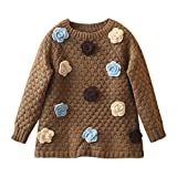 Mud Kingdom Girls Sweaters Brown Size 7/8 Floral Pullover