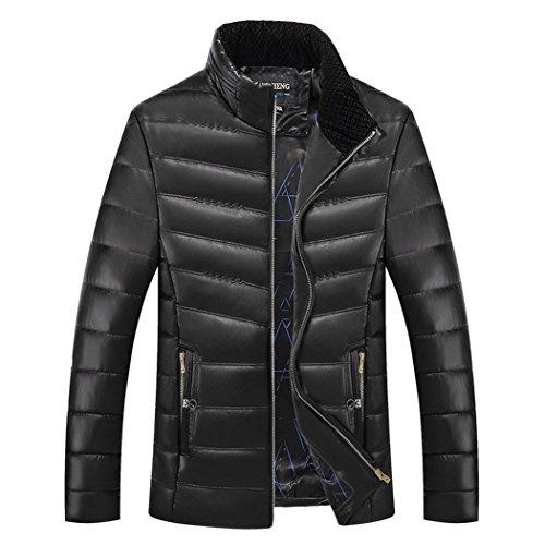 Giacca Hhy Libero coltivazione Colore I Imbottito Vestiti Il 180 Tempo Nero inverno Solido Cotone Di Uomo Da L'auto qqwrdY1